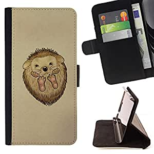 Jordan Colourful Shop - hedgehog thorns cute animal drawing art For Samsung Galaxy S3 Mini I8190Samsung Galaxy S3 Mini I8190 - < Leather Case Absorci????n cubierta de la caja de alto impacto > -