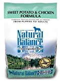 Natural Balance Dry Dog Food, Grain Free Limited Ingredient Diet Chicken and Sweet Potato Recipe, 15 Pound Bag