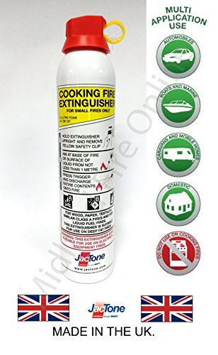 600 ml de espuma extintor para cocinas, barbacoas totallygifts freidoras profundas por Midland Fire on