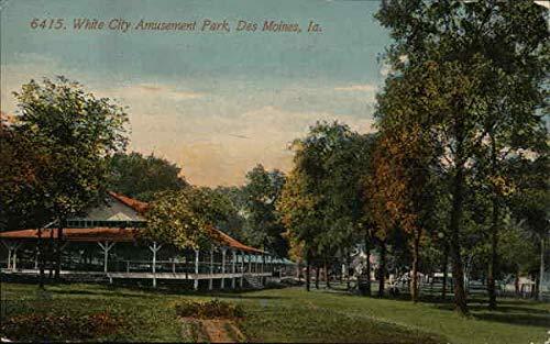 White City Amusement Park Des Moines, Iowa Original Vintage Postcard from CardCow Vintage Postcards