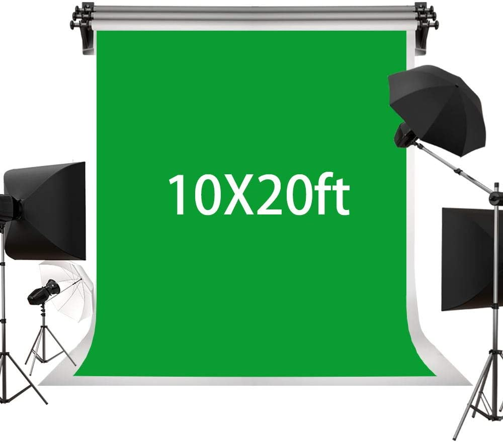 Kate 3×6m Solid Green Backdrop Portrait Background for Photography Studio