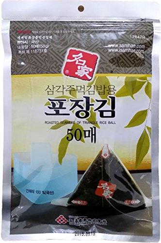 Myungga, Onigiri Rice Ball Triangle Sushi Seaweed Wrappers Nori set, (50sheets ×20pack) by Myungga