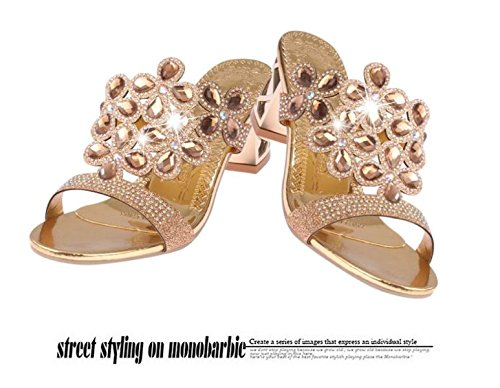 Roman Infradito Gold GSHGA New Bohemia Sandals Sandali Summer Slippers Femminili XvXT0Sf