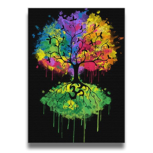 ReBorn Ohm Tree Frameless Canvas Prints Painting For Home Office Decoration