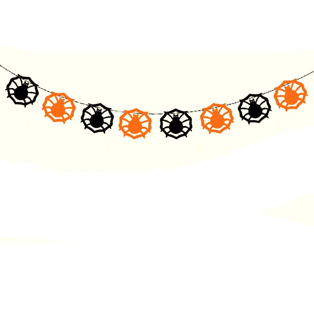 Hacoly Motif de Toile d'araignée Drapeau de décoration d'halloween pour la Fête de Mariage Décorations d'anniversaire-3 mètres