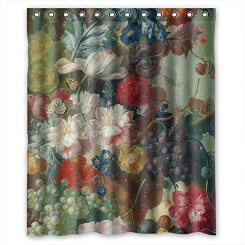 SUNSMILES Shower Curtains Of Famous Classic Art Painting Flowers Blossoms Polyester Width X Height / 60 X 72 Inches / W H 150 By 180 Cm Best Fit For Valentine Father Girls Boys. Modern D -
