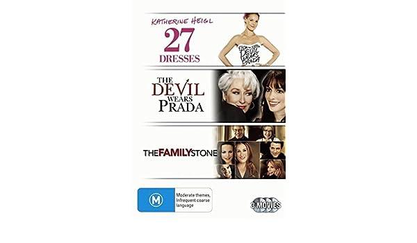 Amazon.com: 27 Dresses / The Family Stone / The Devil Wears Prada | 3 Discs | NON-USA Format | PAL | Region 4 Import - Australia: Movies & TV