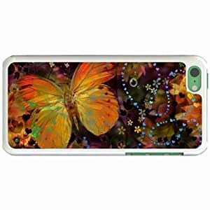 Lmf DIY phone caseCustom Fashion Design Apple iphone 5c Back Cover Case Personalized Customized Diy Gifts In Butterfly WhiteLmf DIY phone case