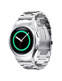 Samsung Gear S2 Watch Band AWStech Stainless Steel Watch Band + Connector For Samsung Galaxy Gear S2 SM-R720/R730 - Silver