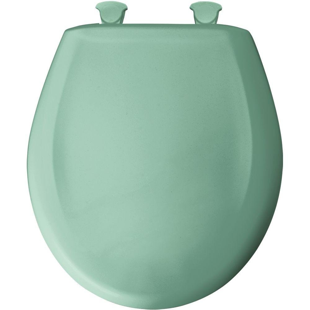 Bemis 200SLOWT 165 Lift-Off Plastic Round Slow-Close Toilet Seat, Ming green by Bemis