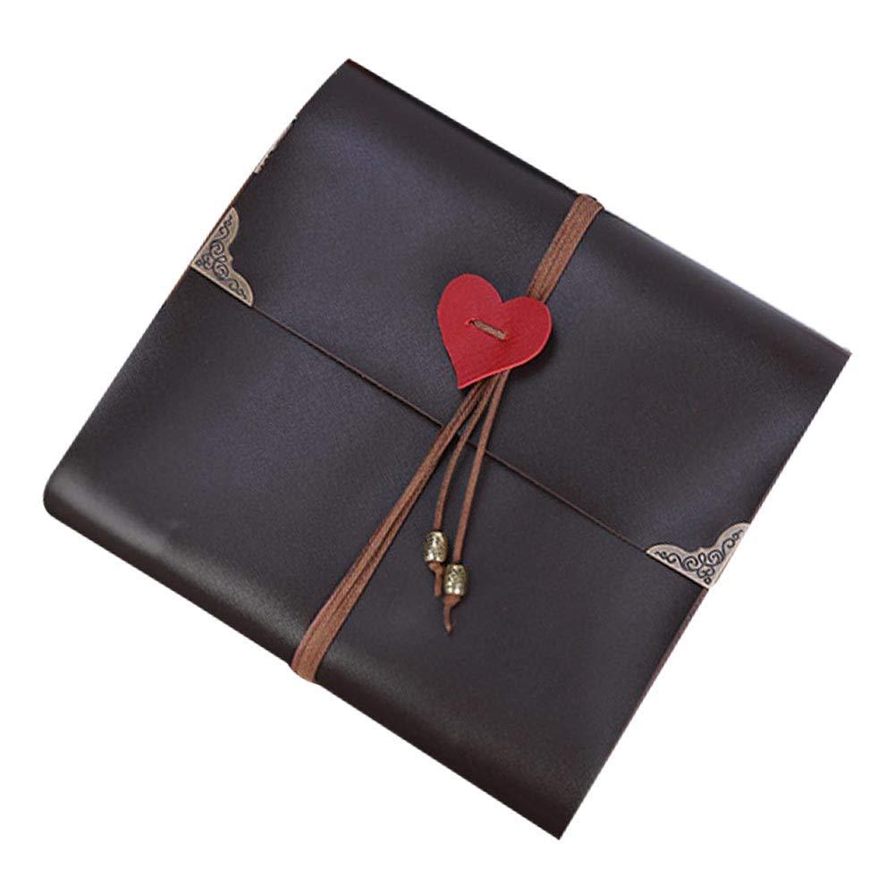 Photo Album Anniversary Handmade Heart Rope Scrapbook Birthday Artificial Leather DIY Wedding Vintage Sticky Gifts Craft
