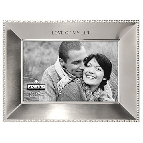 Malden International Designs Simply Stated Shiny Pewter Love of My Life Metal Picture Frame, 4x6, ()