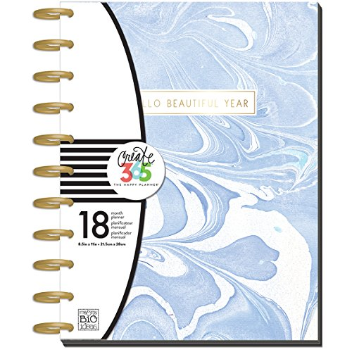 (me & my BIG ideas Create 365 The Happy Planner Big, Big Modern Marble, Jul 2017 - Dec)