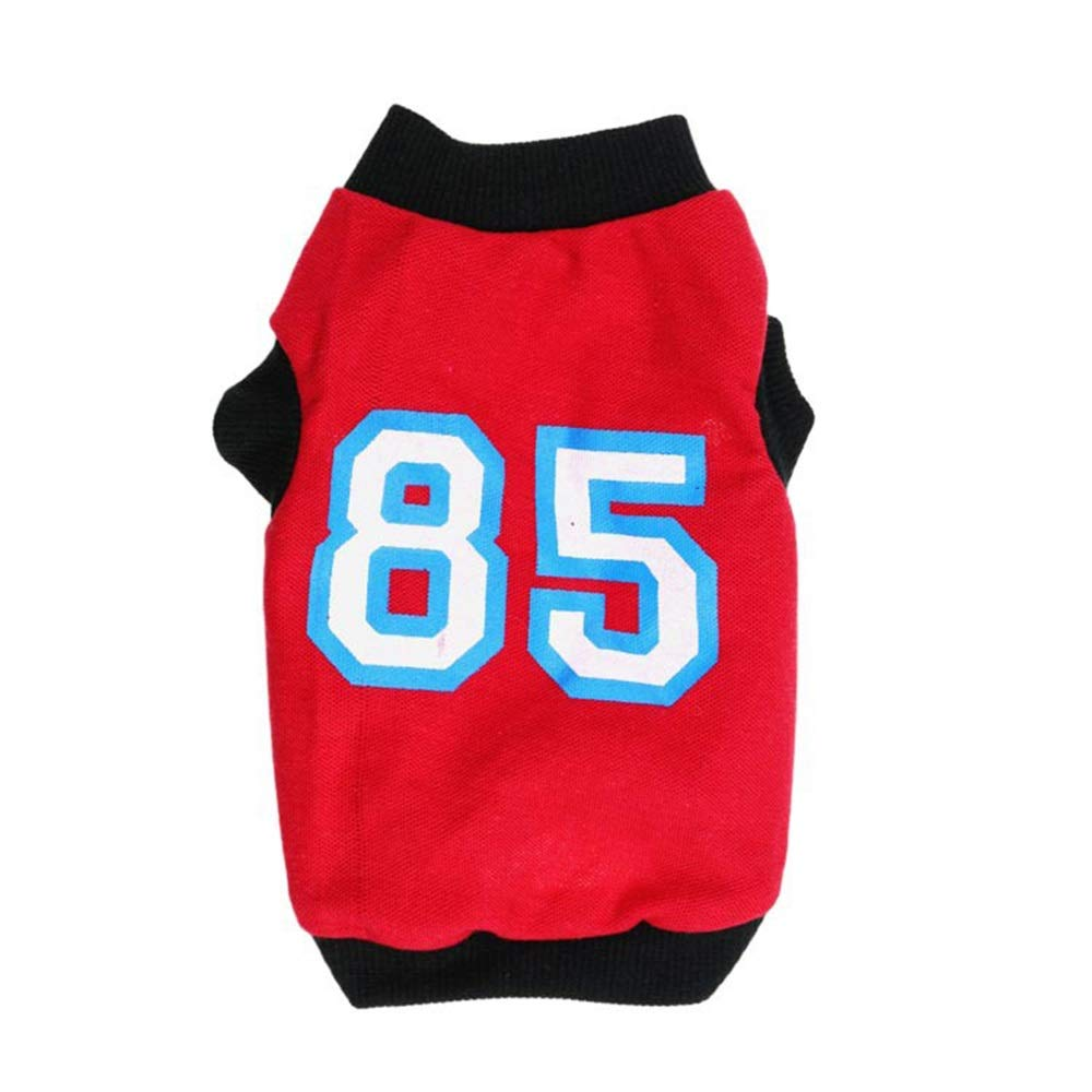 Red L Red L Huayue Pet T-Shirt Mesh Cloth Sports Wind Pet Vest Little and Metier Dogs (color   Red, Size   L)
