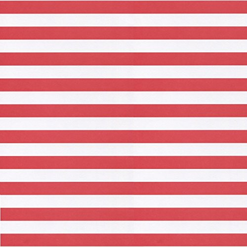 Stripes, Red & White, 5 Sheets, Scrapbook Paper (Sports Solution)