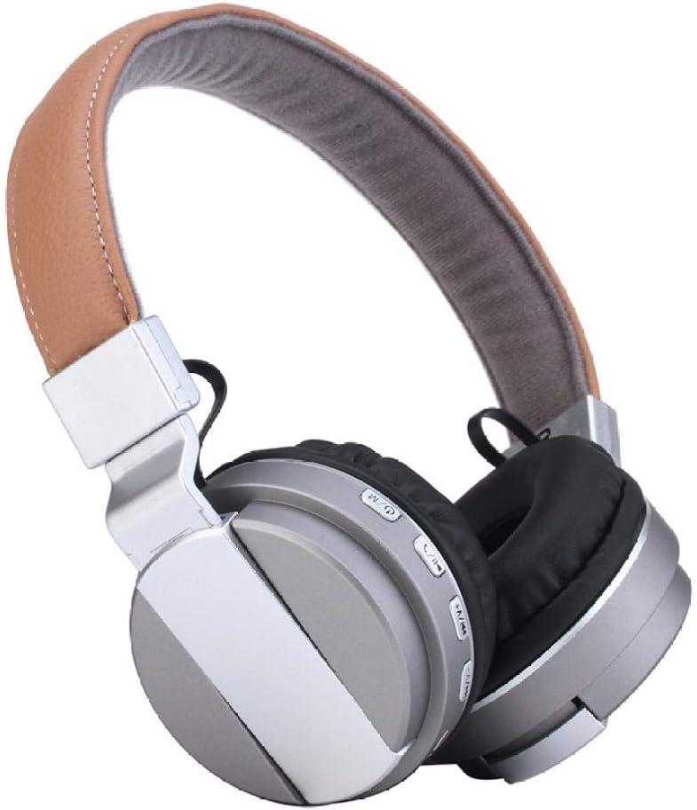 Auriculares Bluetooth inalámbricos 4.2 Auriculares Bluetooth Auriculares TF Radio bt008 Auriculares Bluetooth, Plateados