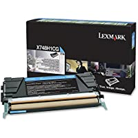 LEXMARK CYAN TONER CARTRIDGE FOR X748 HIGH YIELD RETURN PROGRAM Laser - 10000 Page / X748H1CG /