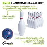 Champion Sports Bowling Set: Rubber Ball & Plastic