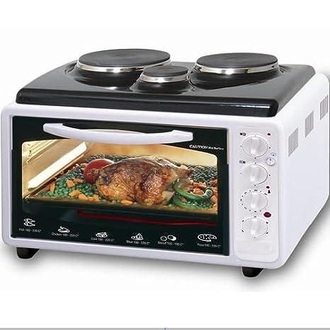 Pequeño horno con placas de cocina individuales (40 litros), color ...