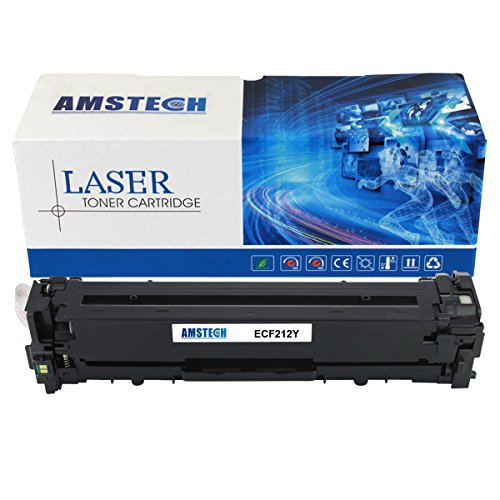 1pack-amstech-1800-pages-compatible-yellow-toner-cartridge-replacement-for-hp-cf212a-131a-for-hp-las