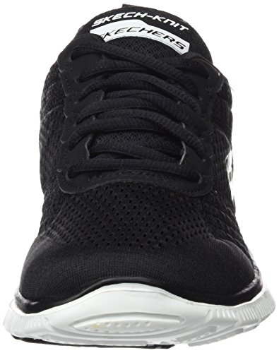 Skechers Flex Appeal-Obvious Choice, Chaussures de Sport Femme noir (BKW)