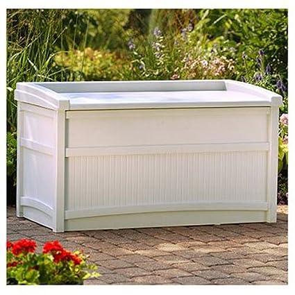 Amazoncom Suncast 50gal Taupe Deck Box Garden Outdoor