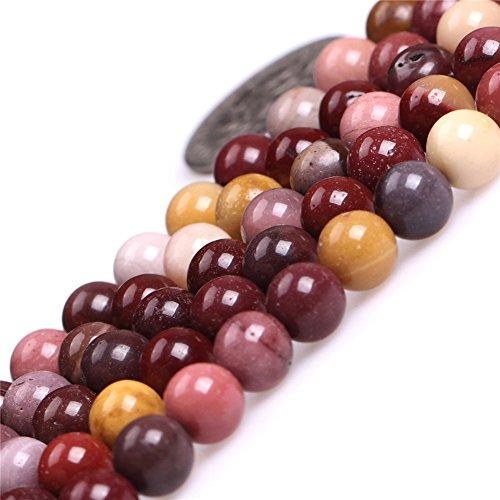 (Mookaite Jasper Beads for Jewelry Making Natural Gemstone Semi Precious 6mm Round 15