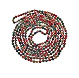 BjB 70 Inch 4MM Faceted Tourmaline-like Multi-color Natural Stone Light Weight Endless Infinity Beaded Necklace