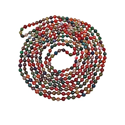 MGR MY GEMS ROCK! BjB 70 Inch 4MM Faceted Tourmaline-Like Multi-Color Natural Stone Light Weight Endless Infinity Beaded Necklace