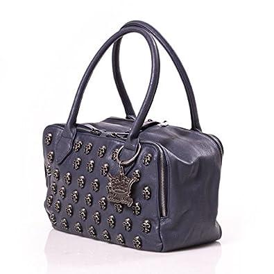 HAPPINESS Mia Bag Bauletto Teschi Blu: Amazon.it: Scarpe e borse