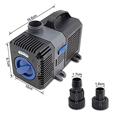 ZOIC 1320GPH 30W 5000L/H 3.3M Submersible Water Pump For Aquarium Fish Tank Hydroponic Pond Fountain