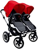 Bugaboo Donkey Complete Twin Stroller - 2015 - Red - Aluminum