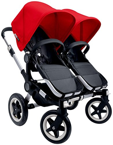 Bugaboo Donkey Complete Twin Stroller - 2015 - Red - Alum...