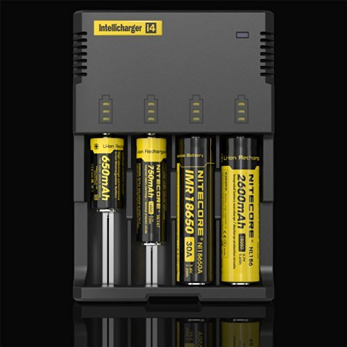 Nitecore New i4 2016 Intellicharger Smart Battery Charger for Li-ion IMR Ni-MH NiCd