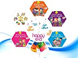 Akhlaaq Series Eid Goody Gift Pack 2 : 4 Akhlaaq series books based on Islamic Manners, Eid Mubarak Happy Eid Swirls, Eid Balloons & Goody Bag