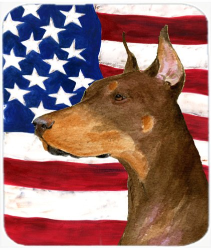 carolines-treasures-mouse-hot-pad-trivet-usa-american-flag-with-doberman-ss4224mp