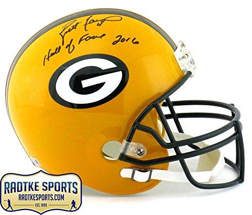 Helmet Favre Brett (Autographed Brett Favre Helmet - Riddell Full Size