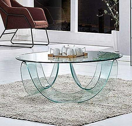 Tavoli Tondi In Cristallo.Bricozone Tavolo Tavolino Caffe Tondo Circolare Soggiorno Camera