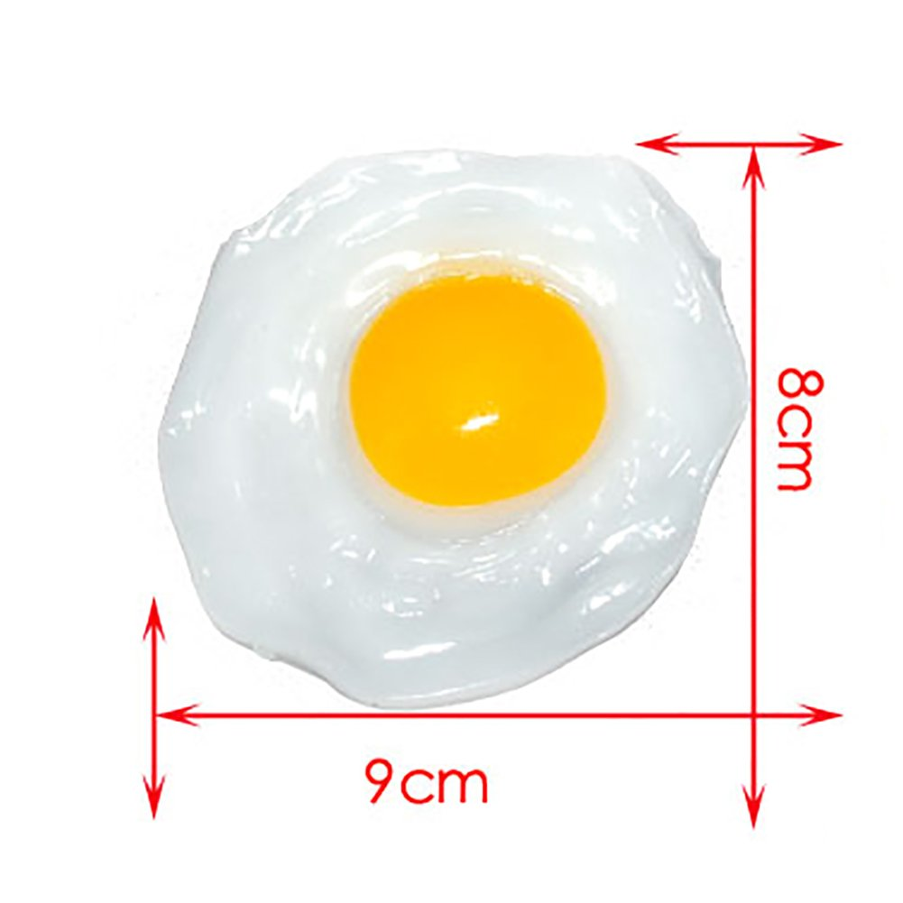 Catnew Lovely Children Play Toy Fried Egg Food Simulation Anti Stress Anxiety Relief Car Decor by Catnew (Image #5)