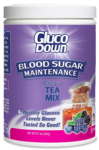 GLUCODOWN Diabetic Friendly Formula, Super Berry Tea Mix.