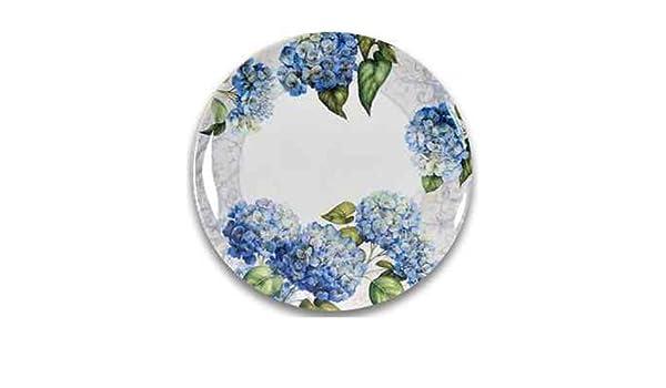 Amazon.com | Keller-Charles Hydrangea Melamine Plates Set of 6 Dessert Plates Accent Plates  sc 1 st  Amazon.com & Amazon.com | Keller-Charles Hydrangea Melamine Plates Set of 6 ...