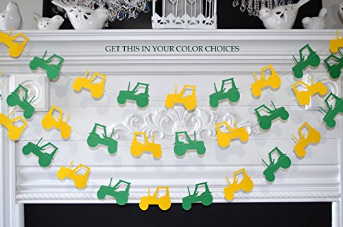 Tractor Birthday party decorations, construction banner, first birthday john deere, farm tractor garland, tractor garland, tractor decorations, tractor party decorations (Deere John Banner Birthday)