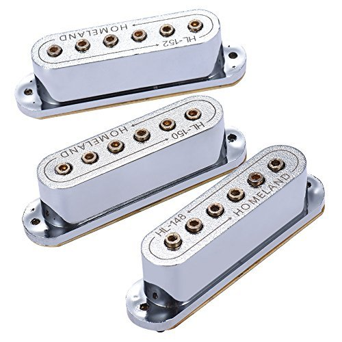 ammoon 3pcs 48/50/52mm Passive Magnetic Dual-Coil Sound Hole Pickup for ST Style Electric Guitar (Best Drill For Coil Building)