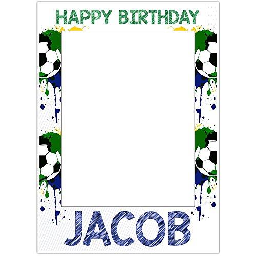 Soccer Paintball Birthday Selfie Frame ()