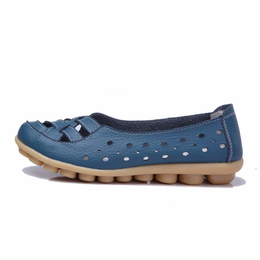 ZQ hug Zapatos de mujer - Tacón Plano - Punta Redonda - Oxfords - Casual - Semicuero - Azul / Marrón / Almendra , almond-us5.5 / eu36 / uk3.5 / cn35 , almond-us5.5 / eu36 / uk3.5 / cn35