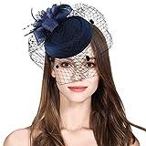 Sinamay Fascinator Flower Feather Fascinators Women Pillbox Hat Royal Wedding Deryby Party