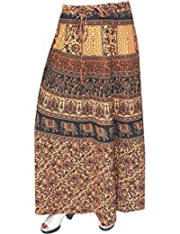 Maple Clothing Printed Cotton Womens Long Skirt Indian Clothes