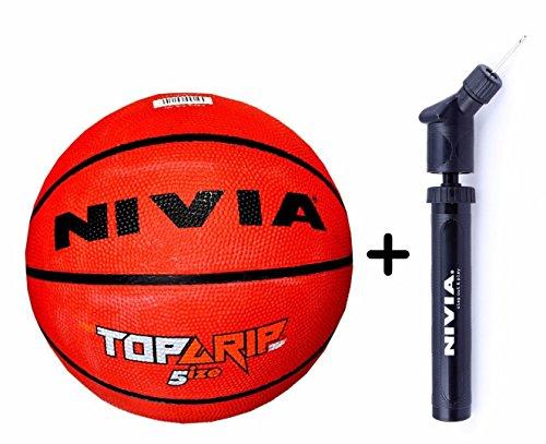 Nivia Top Grip Basketball + Nivia Ball Pump Double Action