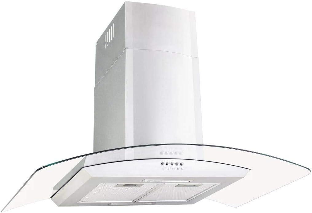 tuduo campana de pared 90 cm Acero inoxidable 756 M3/h LED Campanas extractoras Campanas cocina: Amazon.es: Grandes electrodomésticos