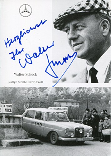 Walter Schock autograph, German MERCEDES racer 1950s and 1960s, signed photo